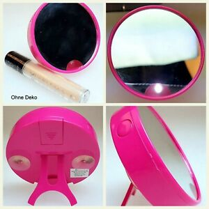 Cosmetic Light Mirror Illuminated Make Up Magnified Round Mirror Portable Vanity