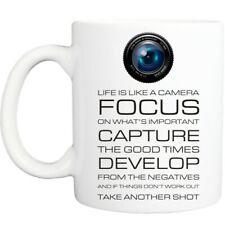 CAMERA QUOTE mug funny novelty tea coffee gift women office mens christmas ideas