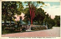 Vintage Postcard - 1912 Entrance To Flower Garden Prospect Park New York #4125