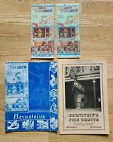 1935-1980 Lot of 4 BERNSTEIN'S FISH GROTTO Restaurant Menu, 123 Powell St, CA