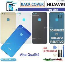 VETRO POSTERIORE SCOCCA BACK COVER HUAWEI P10 LITE WAS-LX1A BIANCO NERO GOLD BLU
