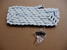 """BMX / moto / ciclo Catena 1/2 x 1/8 """" 114 Collegamenti OLD STOCK IN BOX COLORE BIANCO"""