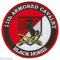 "ARMY  11TH ARMORED CAVALRY BLACK HORSE 4"" EMBROIDERED MILITARY PATCH"