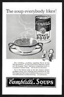 1920s Vintage Campbells Kids Soup Can Grace Drayton Art Deco Print Ad