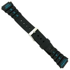 18mm Timex Ironman Triathlon Black and Teal Green Rubber Mens Sports  WatchBand