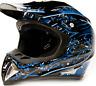 Adult Motocross Helmet Dirt Bike MX DOT Off-Road ATV UTV Blue Black S-XXL