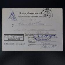 LETTRE PRISONNIER DE GUERRE STALAG IV F -> VERSAILLES KRIEGSGEFANGENENPOST POW