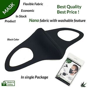 Washable Reuseable Protective Face Mask Bacteria Protection ( Nano Fabric )