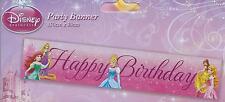 DISNEY PRINCESS GIANT BIRTHDAY PARTY BANNER ! Bigger & Better Size 150 X 30 CM !