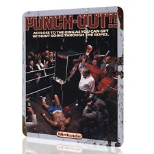 Metal Sign Punch Out Unique Poster Arcade Nintendo Video Game Retro Decor Rusted