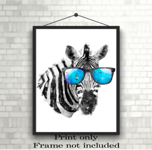 Zebra A3, A4 or A5 Wall Art Poster Photo Print Picture *Frame NOT included*