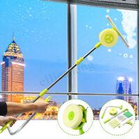 U-Type Telescopic Window Glass Clean Brush Cleaner High Rise Dust Washing Tool