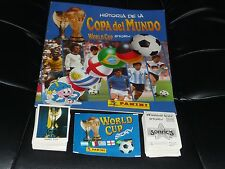 PANINI WORLD CUP STORY MEXICO 70 ITALIA 90 ALBUM + COMPLETE STICKERS SET 100%