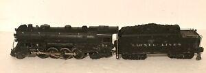 Lionel 726 Vintage O Berkshire 2-8-4 Steam Locomotive & 2426W Tender, Running