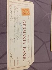 US REVENUE STAMP 2 CENTS ON 1870 CHEQUE