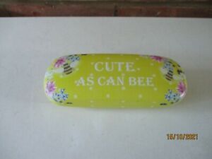 Shudehill Giftware Bee Happy Glasses Case - Cute As Can Bee - Yellow - New