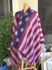 Patriotic USA Flag cotton woven shawl wrap one size Italy Design