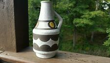 Vintage Made In GERMANY Unique Vase Bottle  Pottery Multi Color With Handle