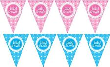 Baby Shower Boy Girl New Baby Mum to Be Bunting Banner Pink Blue Decorations