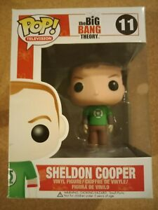 The Big Bang Theory Sheldon Cooper Green Lantern 11 Funko Pop! Vinyl + Protector