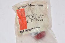 NEW CUTLER-HAMMER 10250TC13 GLASS RED LENS