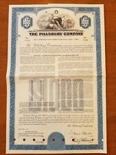 1961 Pillsbury Company Bond Stock Certificate