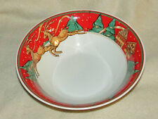 Vintage Misono Christmas Fantasy Large Serving Bowl 9""