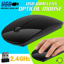 Black 2.4 GHz Wireless Cordless Mouse USB Optical Scroll For PC Laptop Computer