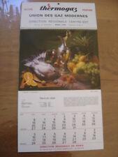 1975 calendrier BUTANE PROPANE THERMOGAZ recettes de cuisine