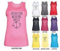 OPERATION WEDDING DRESS Workout Vest - JC015 - Funny Women's Ladies Gym Bride