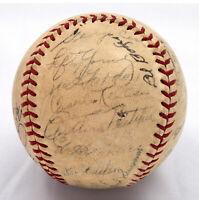 1939 All Star Game Team Signed Baseball Jimmie Foxx Joe Dimaggio PSA DNA COA