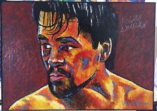 Boxe Roberto Duran ~ Original signé par Patrick J Killian