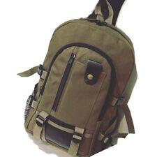 Men's Vintage Canvas Rucksack Satchel School Backpack Shoulder Travel Hiking Bag