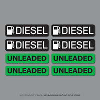 SKU2560 - 8 x Diesel & Unleaded Fuel Reminder Stickers - Car - Truck - Bus - Van