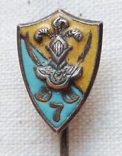 Miniature 7° RCA Chasseurs d'Afrique insigne boutonnière ORIGINAL Cavalerie