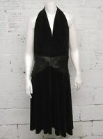 Tadashi Women's Size 14 Black Velvet Halter Dress
