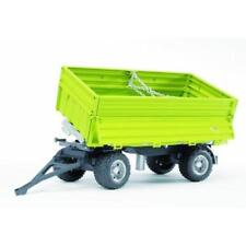 BRUDER 1:16  RIMORCHIO RIBALTABILE VERDE FLIEGL TIP-UP TRAILER GREEN  ART 02203