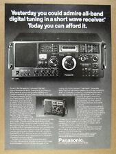 1979 Panasonic RF-4900 Shortwave Radio Receiver photo vintage print Ad