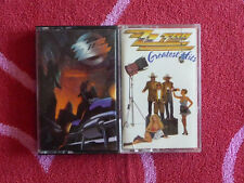 Lot of 2 ZZ TOP Cassette Tapes Greatest Hits & Recycler BLUES ROCK