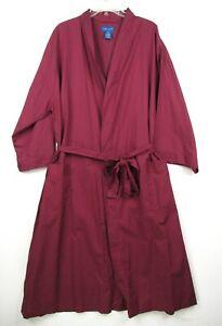 Vintage Mens Towncraft Robe One Size Burgundy Dark Red Lightweight NOS NWT Belt