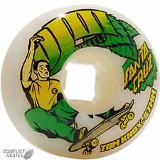 "OJ WHEELS ""Tom Knox Ollie"" Skateboard Wheels 57mm 101a WHITE EZ Edge OJs Street"
