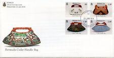 Bermuda 2018 FDC Cedar Handbags Handle Bags 4v Set Cover Art Fashion Stamps