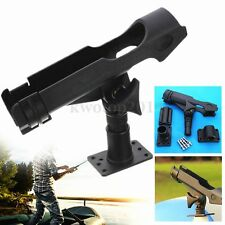 Rotatable Adjustable Side Rail Mount Kayak Boat Fishing Pole Rod Holder Tackle