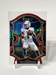 2020 Select #45 Tua Tagovailoa Concourse Maroon Prizm Die Cut Rookie RC Dolphins