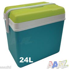 Large 24L Cooler Box Camping Beach Picnic Food Ice Insulated Coolbox Travel