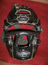USED MACGERGOR BLACK LEATHER CATCHERS MASK RETRO