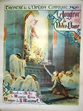 Original Vintage French Opera Poster Notre Dame, 1900-1910, France