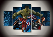 The Avengers Superhelden Wandbilder Set Leinwand Gemälde 5x Bild Neu Cool WoW on