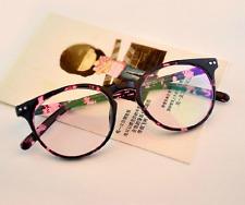 Vintage Retro Round PC Eyeglass frames Glasses Women Men Clear lenses RX