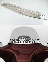 Chrome Slotted WINDSHIELD TRIM FOR HARLEY TOURING BAGGER BATWING MOTORCYCLE